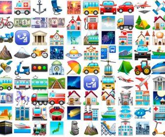 Emoticonos y emojis de viajes y lugares con significado